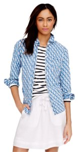 J.Crew Button Down Shirt Denim Blue and Ivory