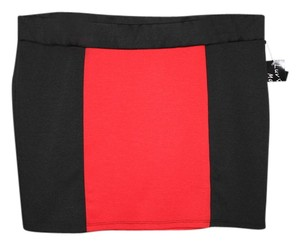 Luv Me More Mini Skirt Red/Black