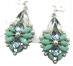 Nine West Nine West Bib Earrings Light Blue Silver Tone J1924