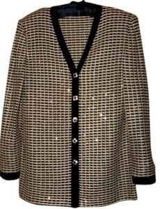 St. John by Marie Gray Top Gold and black Jacket