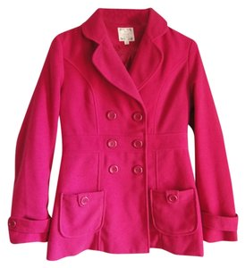 Modern Edge Pink Magenta Fitted Winter Soft Pea Coat