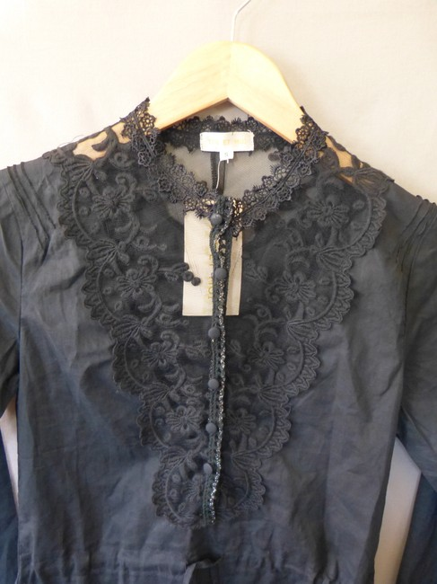 Toi et Moi Lace Button Down Tie Waist Top