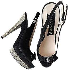 Boutique 9 Heels 9 Slingback Peep-toe Black Formal