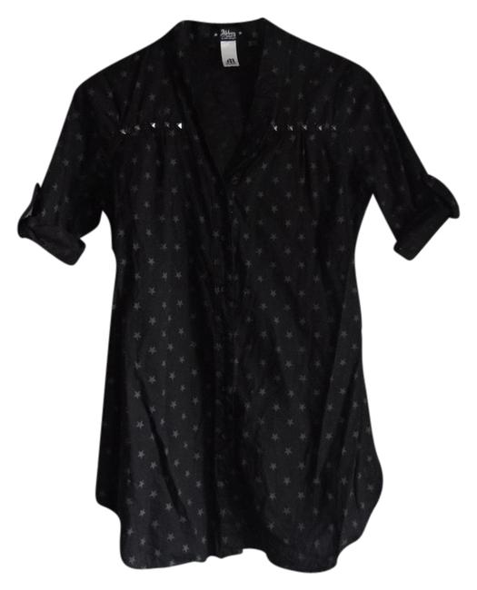Abbey Dawn by Avril Lavigne Star Print Stars Studs Studded Rocker Military Shirt Dress Casual Tunic