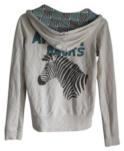 Forever 21 Zebra Graphic Animal Print Africa Rocks Cozy Zip Up Sweatshirt
