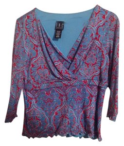 INC International Concepts Top Blue/Red