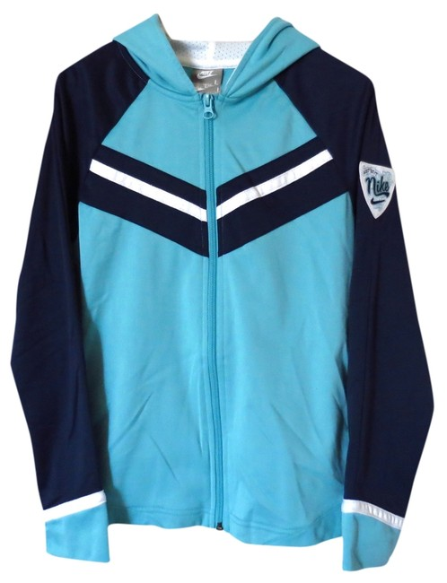 Nike Blue Zip Up Activewear Outerwear Size 0 (XS, 25) Nike Blue Zip Up Activewear Outerwear Size 0 (XS, 25) Image 1
