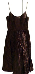 Nicole Miller Collection Metallic Polyester Spaghetti Straps Dress