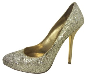 Miu Miu silver/ gold Pumps