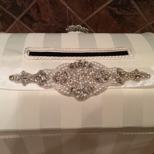 Custom Made Ivory Pearls and Bling Sash.