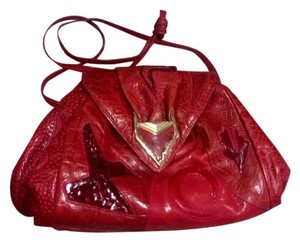 Sharif Vintage 1980's Sharif Women's Red Leather Handbag.