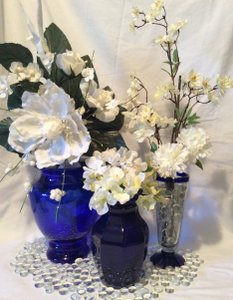 Cobalt Blue Vases Reception Decoration