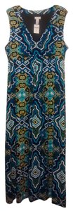 blue multi Maxi Dress by Chico's