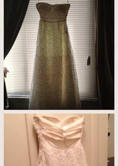 Adrianna Papell Ivory Wedding Dress Size 8 (M)