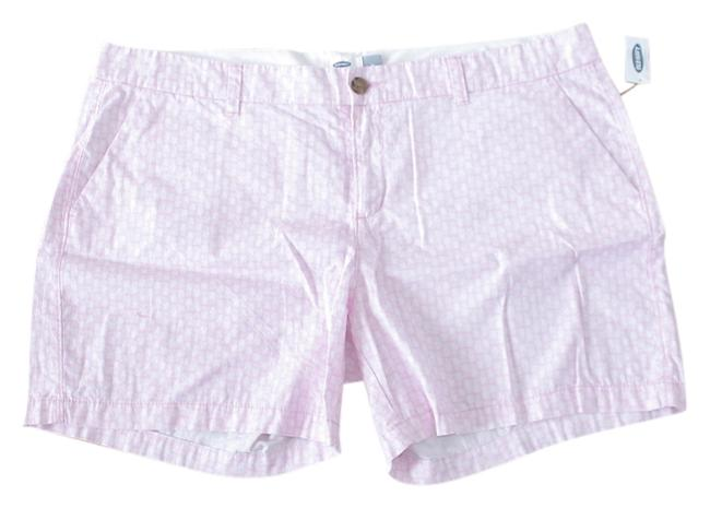 Item - Pink/White Women's Patterned Twill Pineapple Shorts Size 20 (Plus 1x)