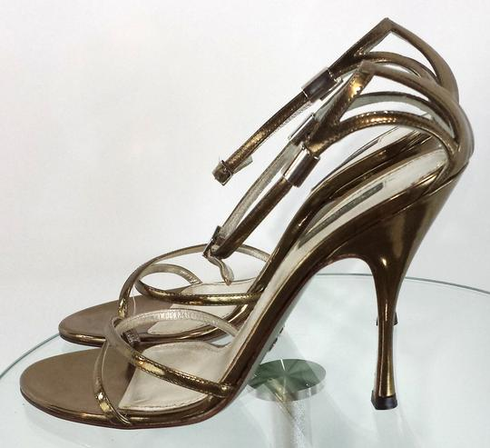 Dolce & Gabbana Strappy Leather gold Sandals