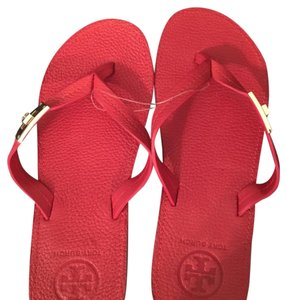 Tory Burch Leather Red Sandals