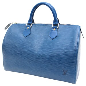 Louis Vuitton Speedy 30 Speedy Speedy Satchel in Blue