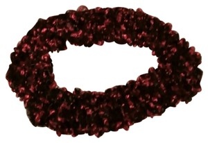 Beautiful Burgundy and Black Infinity Scarf
