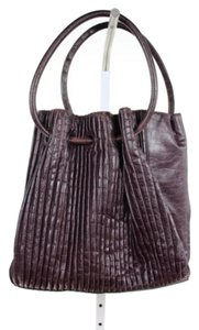 Giorgio Armani Giogio Leather Handbag Satchel in Purple