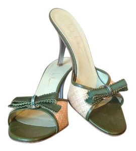 Nicole Miller Olive Green Sandals
