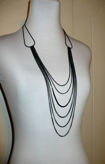 Other Adia Kibur Black Multi Chain Necklace