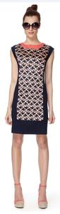 The Webster at Target short dress Navy Multi Collaboration Shift Mod Art Deco Miami Summer Work Career on Tradesy