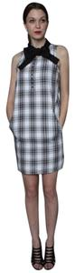 WeSC short dress White/Grey/Black Plaid Aneta on Tradesy