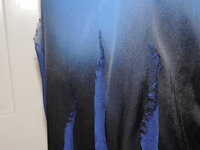 M Missoni & Sleeveless Overshirt Top cobalt blue & black ombre