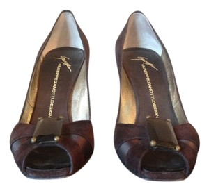 Giuseppe Zanotti Brown Suede Pumps - item med img