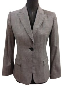 Elie Tahari Jacket Size 4 Plaid black, white Blazer