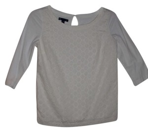 Gap T Shirt White Eyelet