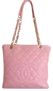 Chanel Petite Shopping Pst Caviar Leather Gold Hardware Ghw Classic Timeless Flap Woc Mini Medium Large Jumbo Maxi Coco Boy Tote in Pink