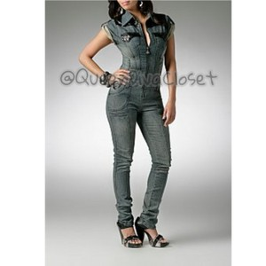 cd29bfb39dd5 House of Deréon Jumpsuit Beyonce Jumpsuit Jumpsuit Romper Overalls Playsuit  Catsuit Skinny Jeans-Medium Wash