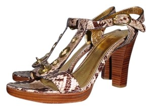 Coach Multi Snake Skin Platforms