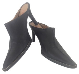 Anne Klein High Style Great Jean Chic All Seasons Newly 'thin-soled' Designer Top Stitched Mule Open Black Pumps