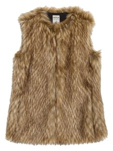 Zara Fur Fall Winter Coat Vest