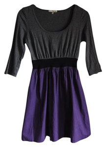 Be Bop short dress purple/grey Twofer Waist Defining 3/4 Sleeve on Tradesy