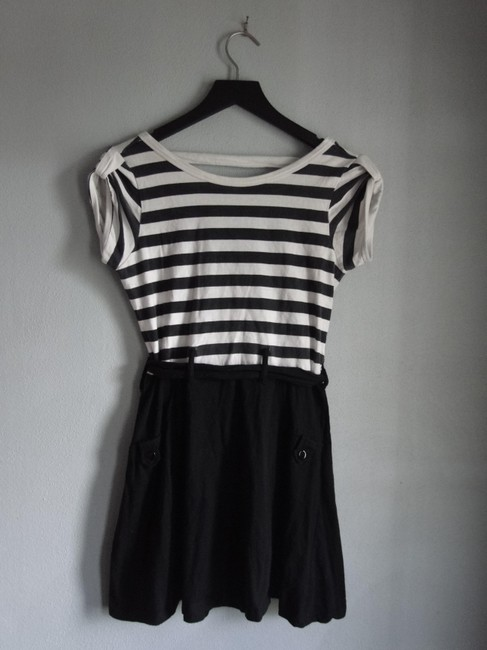 Charlotte Russe short dress Black/white Sailor A-line Twofer Low Back Cute on Tradesy