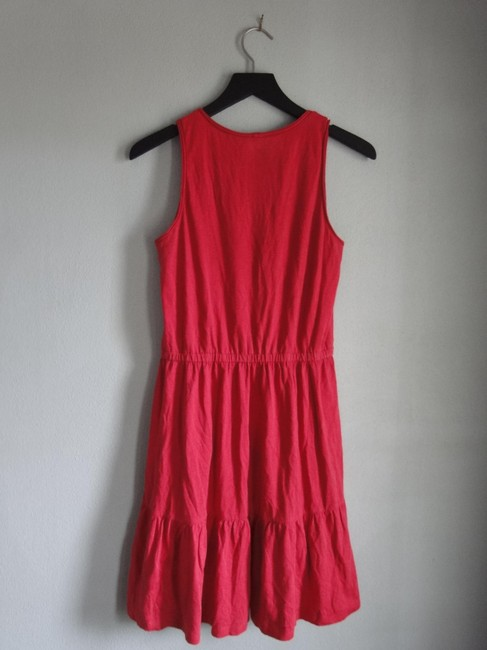Ann Taylor LOFT short dress Red Summer Knit Beach on Tradesy