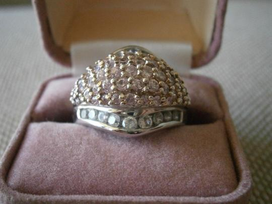 Other Pretty Pink Stones & Rhinestone Ring NWOT size 10