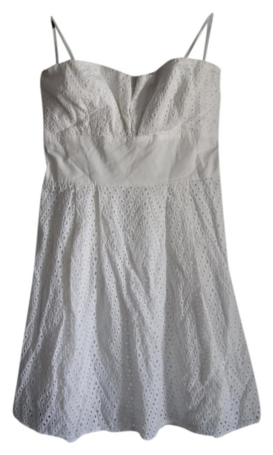 dELiA's Eyelet Structured Strapless Garden Party Bow Dress