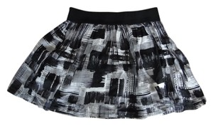 Twenty One Painterly Print Pattern Mini Skirt Grey/multi