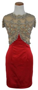 Sherri Hill Red Beaded Dress