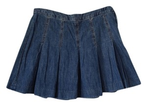 Gap Casual Pleated Schoolgirl Mini Skirt Medium Blue