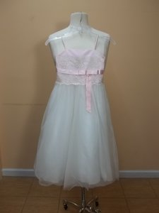 Alfred Angelo Pink/Ivory 6409 Size 5 Dress