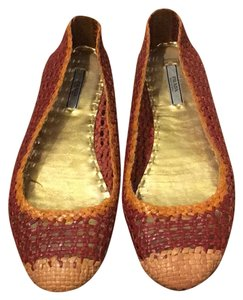 Prada Weave Brown and yellow Flats