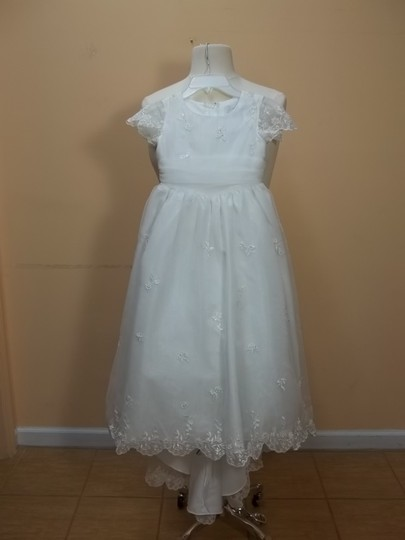 Alfred Angelo Ivory/Champagne Organza 6410 Formal Bridesmaid/Mob Dress Size OS (one size)