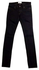 Habitual Mid Rise Low Rise Black Black Dark Dark Wash Formal Formal Slim Denim Tight Skinny Jeans-Dark Rinse