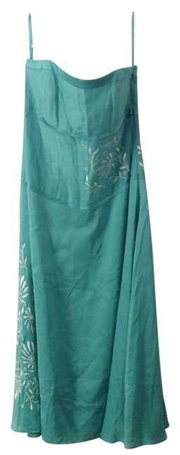 Item - Persian Green Embroid Embroidered Strapless Knee Length Cocktail Dress Size 4 (S)